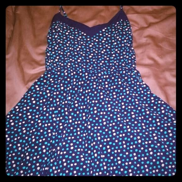 Aeropostale Dresses & Skirts - Mini Blue and White Polka Dot Dress